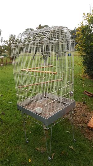 PARROT CAGE...WITH STAND on wheels