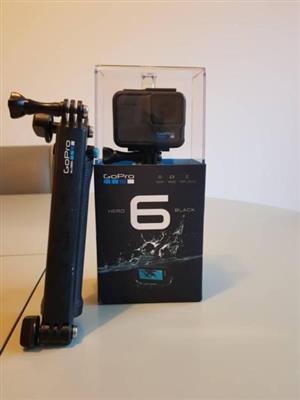 GoPro Hero 6 Black with 3 Way Mount / Selfie Stick