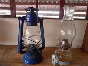 PARRAFIN LAMPS X 2