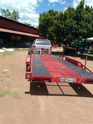 car towing trailer