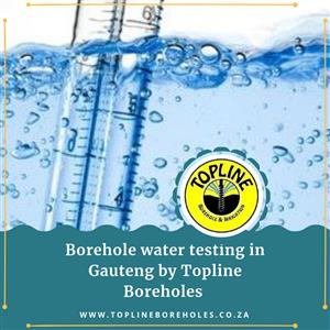 Water testing by Topline Boreholes to keep your family safe