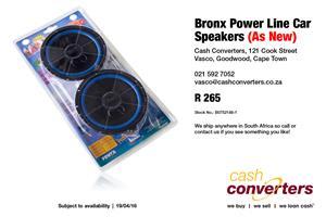 Bronx Power Line Car Speakers (As New)