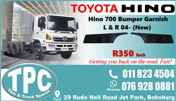 Toyota Hino 700 Bumper Garnish 04- - New -Quality Replacement Truck Body Spare Parts.