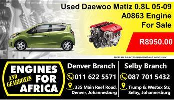 Daewoo Matiz 0.8L A0863 05-09 Engine For Sale