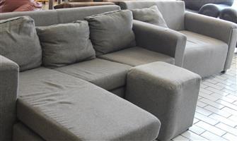 L-shape couch S033592A #Rosettenvillepawnshop