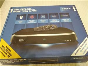 DSTV explora, remote, multiswitch and all cables, in box