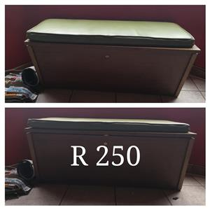 Wooden chest with mini mattress
