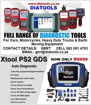 XTOOL PS2 GDS Gasoline Bluetooth Update Online Warranty for 3 Years