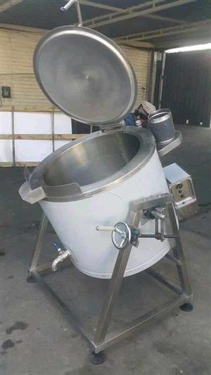 Gas oil jacketed cooking pots, heating tanks for sale