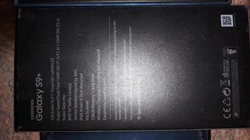 Samsung S9 Plus 128gig Midnight black phone for sale.
