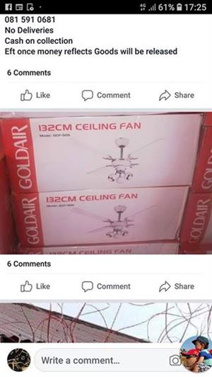 Gold Air ceiling fans for sale