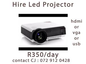 Rent/Hire LED Projector R350/Day