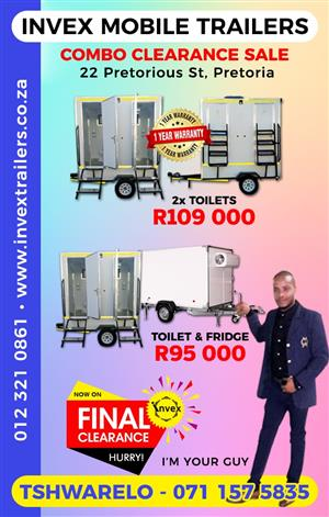 MOBILE VIP TOILET COMBO CLEARANCE SALE!