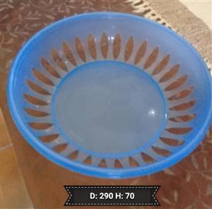PLASTIC BLUE FRUIT BOWL FOR SALE