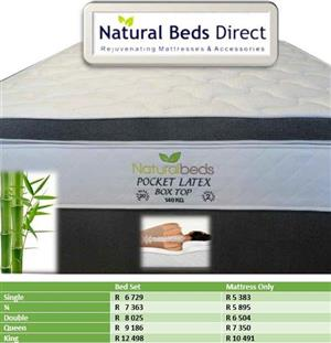 POCKET LATEX BOX TOP DOUBLE BED // MATTRESSES & BED SETS