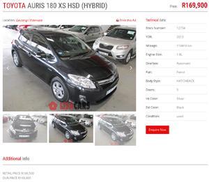 2013 Toyota Auris XS HSD