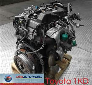 Imported used  TOYOTA LAND CRUISER/HILLUX/FORTUNER 3.0L, 1KD engine Complete
