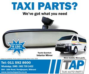 Toyota Quantum INTERIOR MIRROR - stripping quality used parts at Taxi Auto Parts - TAP