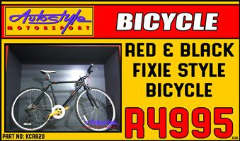 Fixie style brand new bicycle with S-RAM X-4 GEAR System.