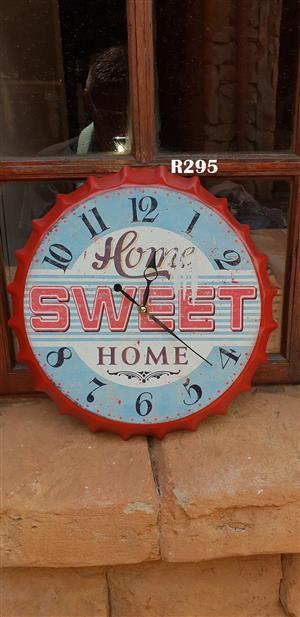 Home Sweet Home Wall Clock (D345mm)