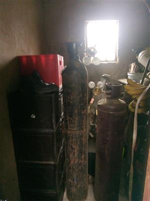 Oxygen & Acetylene Gas welding / cutting torch set