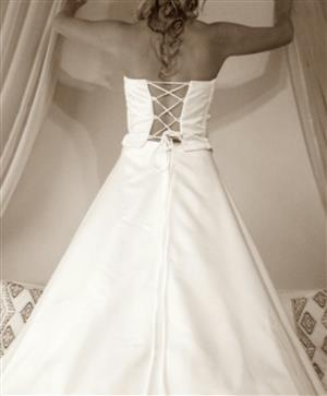 Wedding dress Lace up bodice with skirt