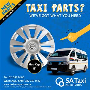 "New 15"" Hub Cap suitable for Nissan NV350 Impendulo - SA Taxi Auto Parts quality taxi spares"