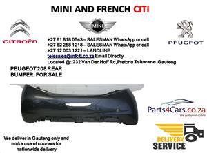 Peugeot 208 rear bumper for sale