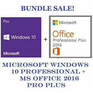 Windows 10 pro and office 2016 pro bundle