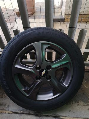 x4 Standard Chevrolet utility bakkie tyres and rims for sale