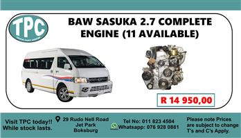 Sasuka 2.7 Complete Engine - For Sale at TPC