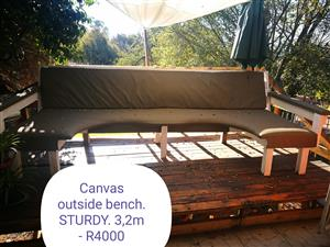 Canvas outdoors bench