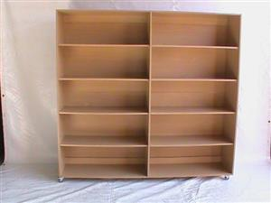 Mobile 2x5 Tier book case