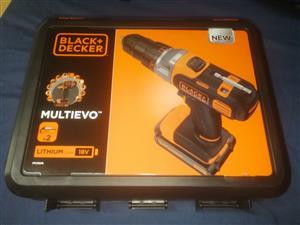 Brand New Black & Decker 18V Multievo Drill.