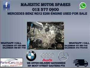 Mercedes benz w212 e200 engine for sale
