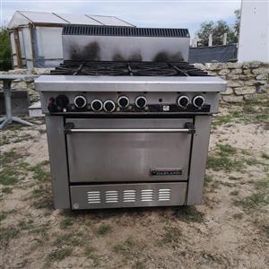 Garland industrial gas stove and oven