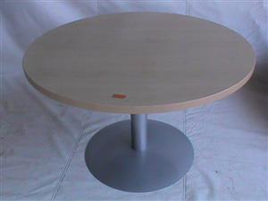 Maple round centreleg boardroom desk