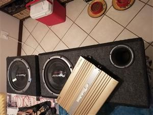 Aodiobank Amp and Subs speakers for sale  Pretoria - Pretoria East