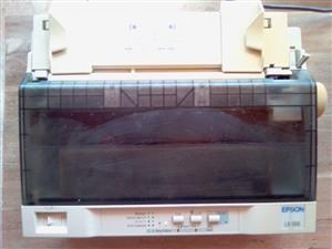 Dot Matrix Printer EPSON LX-300 in good working condition. Complete.