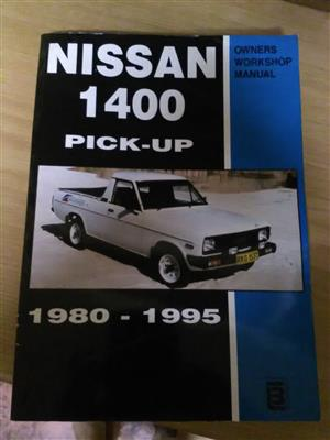 1400 Nissan  workshop manual. Still in good condition,was hardly used. pages neat.