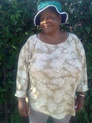 40 year old mature and experienced Lesotho nanny,maid,cleaner needs stay in work very urgently