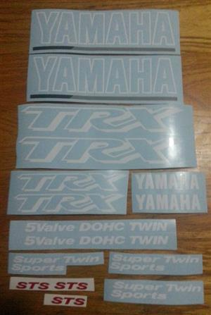 Yamaha TRX 850 stickers decals graphics sets