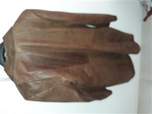 Genuine leather ladies coat