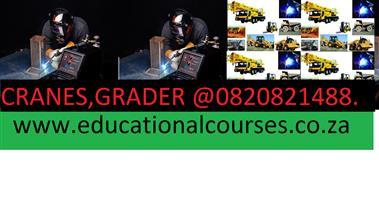 THE EDUCATIONAL COURSE.CRANE.MACHINERY0818278761.GRADER. CRANES. DUMP TRUCKS. BOILERMAKER.WELDING COURSES.