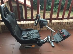 Playseat with Logitek G Force Stearing Wheel & Pedals