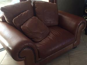 3 Leather couches