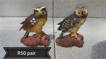 2 Owl ornaments for sale
