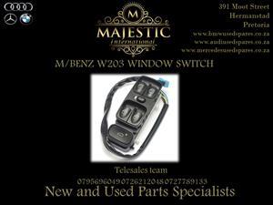 M/BENZ NEW W203 NEW WINDOW SWITCH FOR SALE,.