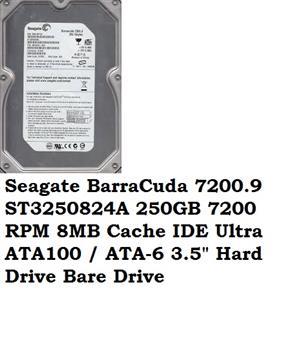 Seagate BarraCuda 7200.9 ST3250824A 250GB 7200 RPM 8MB Cache IDE Ultra