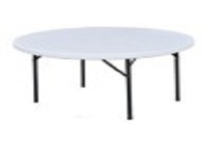 Round Banquet Table with Plastic top